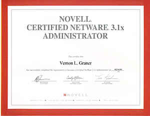 1995 novell certified netware engineer certificate 1995 novell certified netware administrator certificate - Novell Certified Linux Engineer Sample Resume